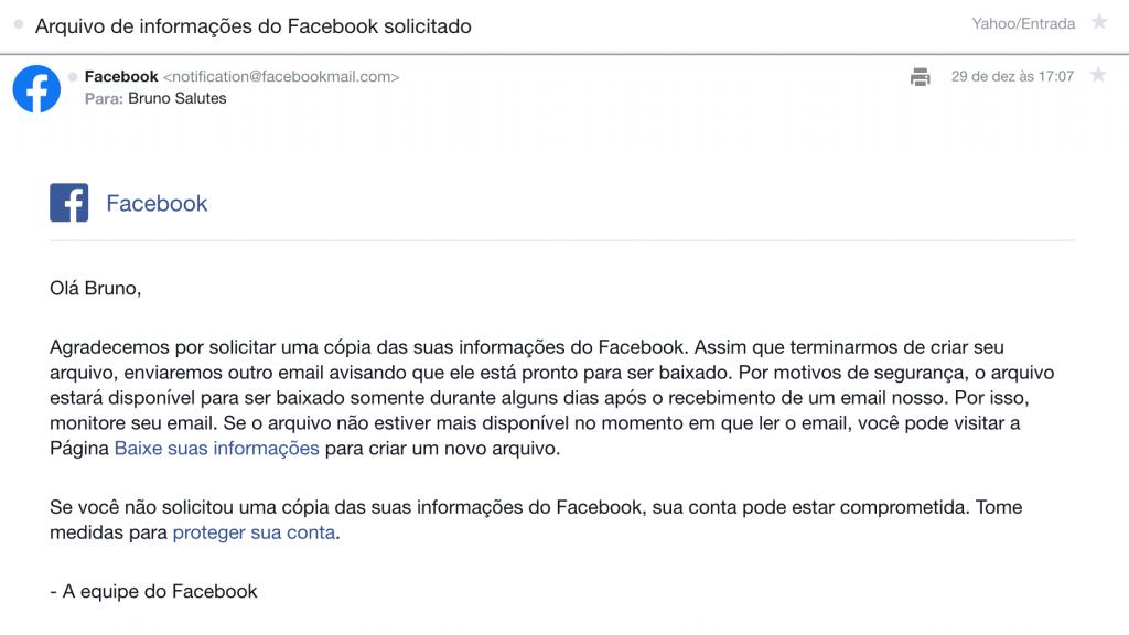 Facebook: como baixar seu histórico de usuário completo - 6