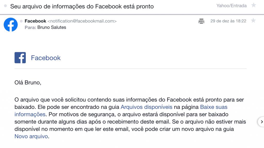 Facebook: como baixar seu histórico de usuário completo - 7