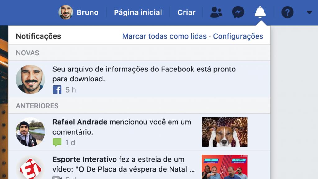 Facebook: como baixar seu histórico de usuário completo - 8
