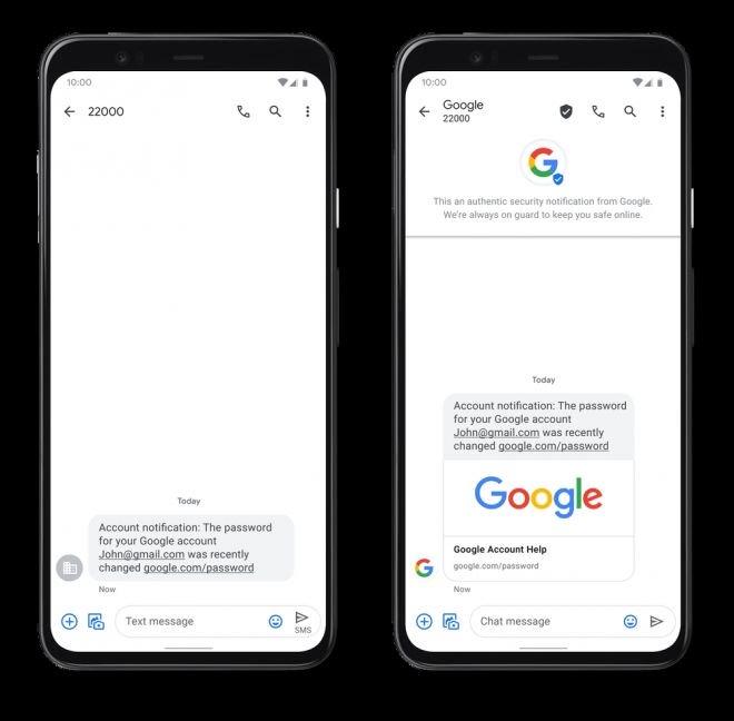 Mensagens no Android agora têm confirmação de identidade com SMS Verificado - 2