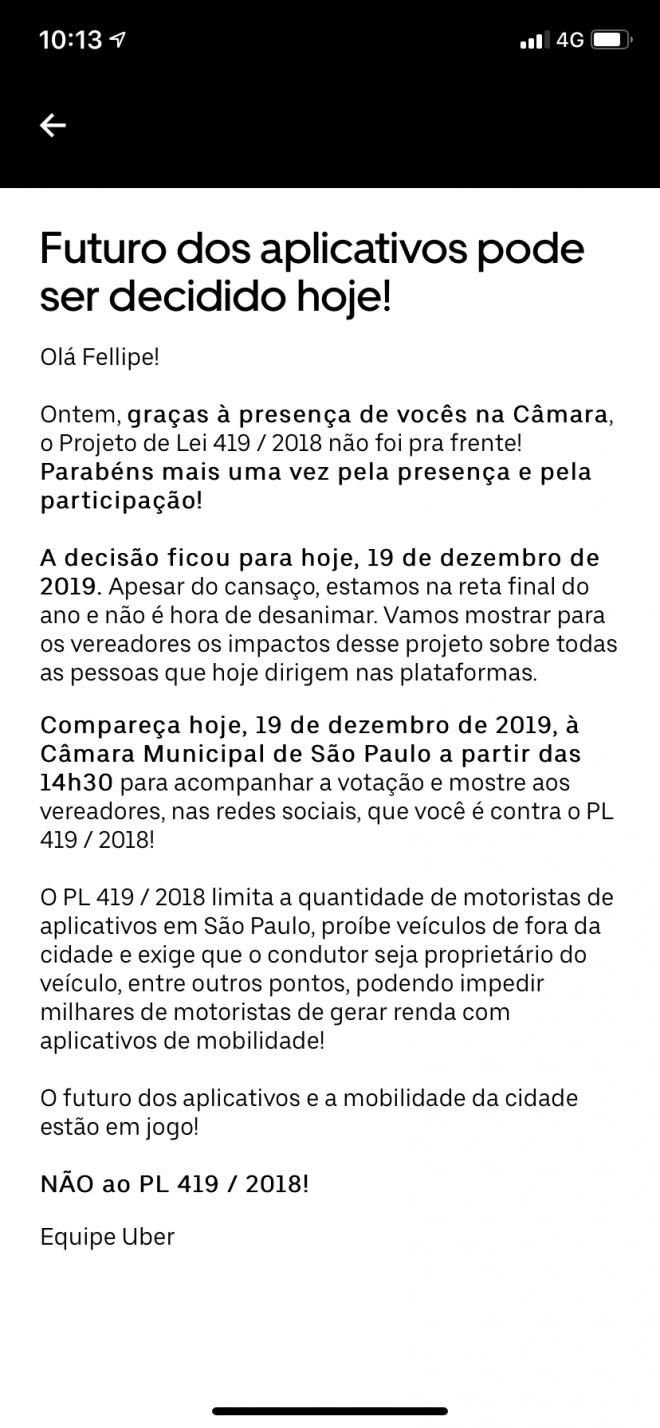 Saiba tudo sobre a lei que pode restringir a atuação da Uber e 99 em São Paulo - 3