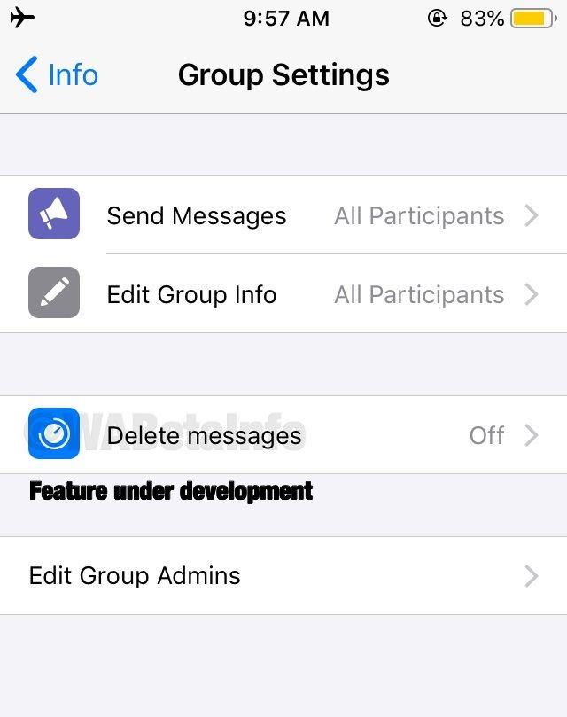WhatsApp vai implementar o apagamento automático de mensagens em grupos - 2