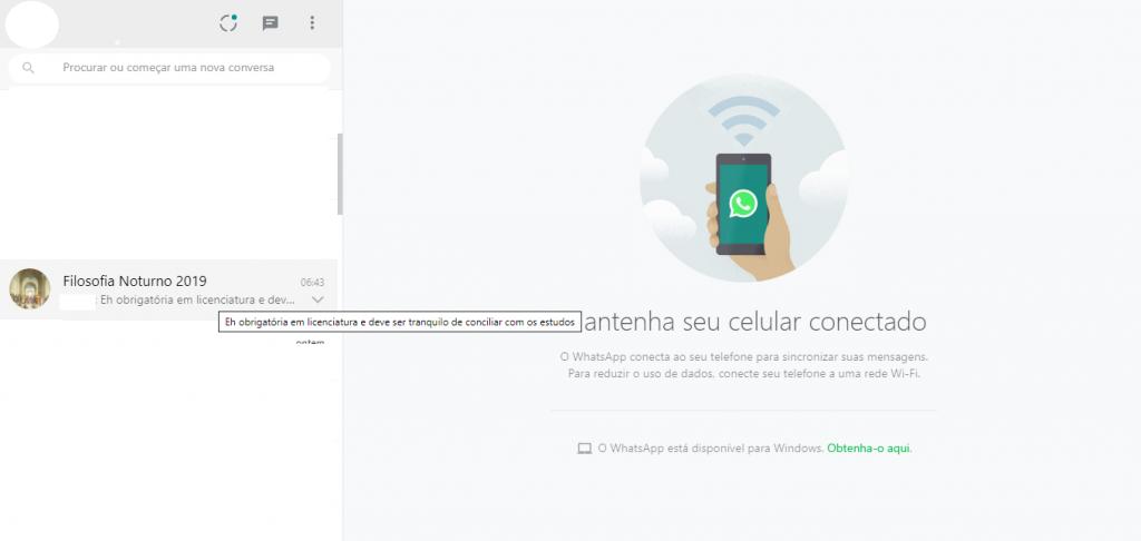 WhatsApp Web: saiba como ver mensagens escondido no app - 3