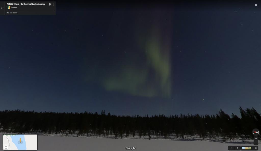 Como ver a aurora boreal pelo Google Maps - 3