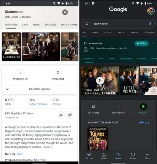 Google cria função de listar filmes, séries e programas que você quer assistir - 2