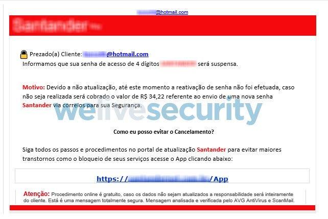 Saiba mais sobre golpe que usa o site do Santander para roubar contas bancárias - 2
