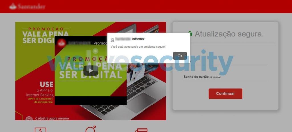 Saiba mais sobre golpe que usa o site do Santander para roubar contas bancárias - 3