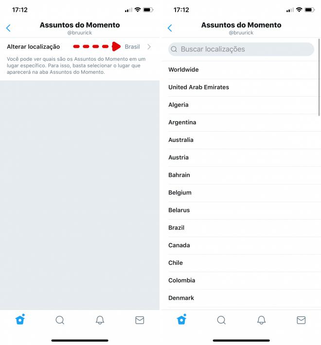 Twitter: como alterar a região dos trending topics no PC e celular - 5
