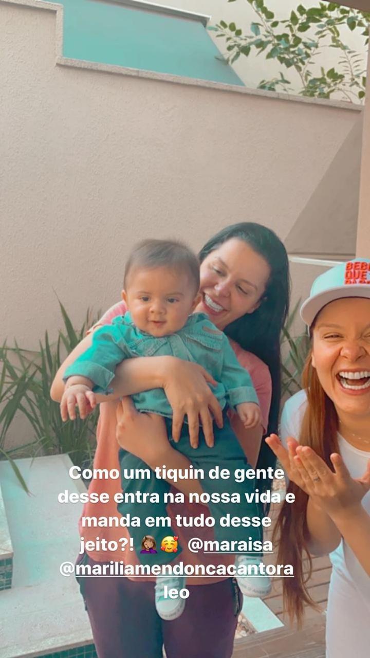 Fofo! Maiara e Maraisa conhecem o pequeno Léo, filho de Marília Mendonça - 1
