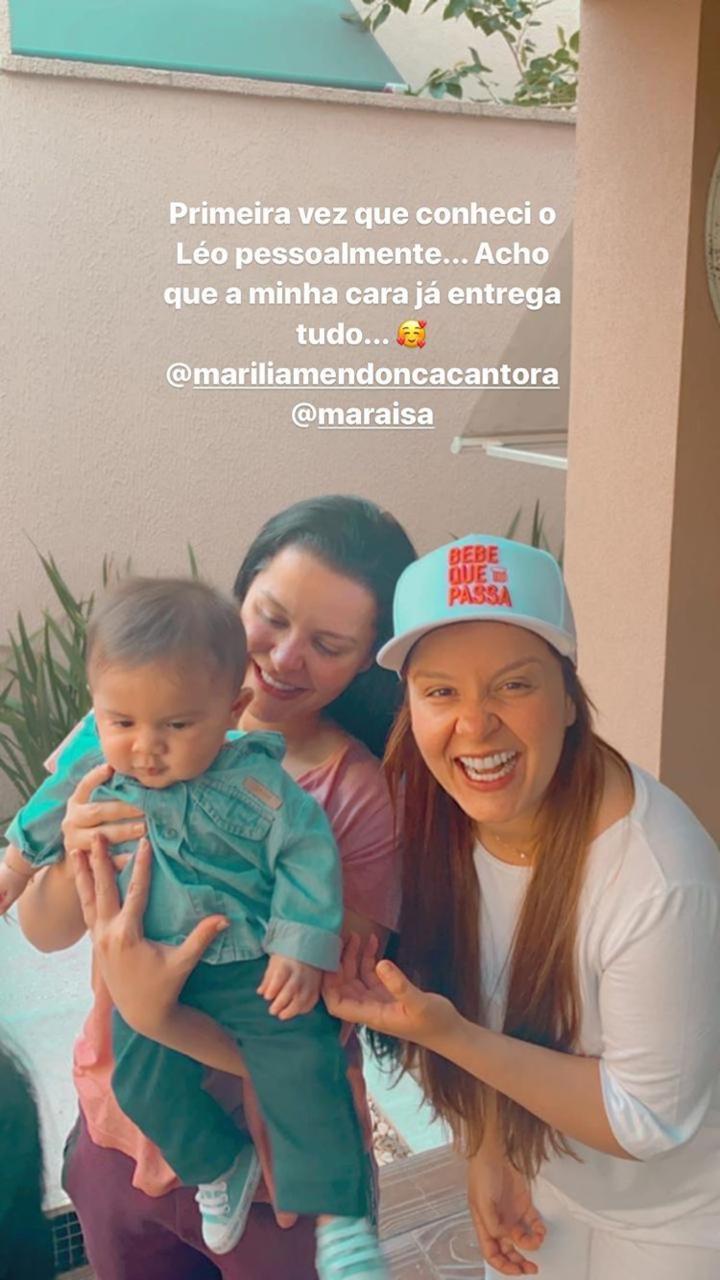 Fofo! Maiara e Maraisa conhecem o pequeno Léo, filho de Marília Mendonça - 2