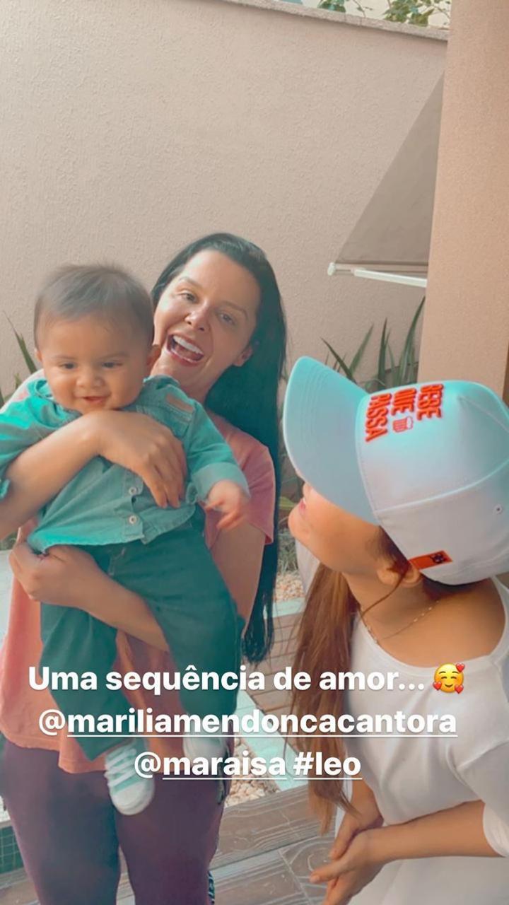 Fofo! Maiara e Maraisa conhecem o pequeno Léo, filho de Marília Mendonça - 3