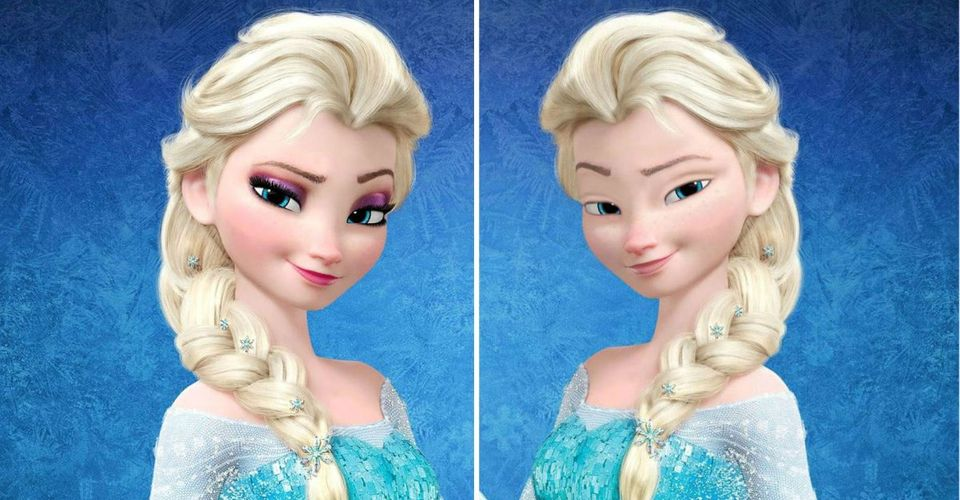 O atributo alt desta imagem está vazio. O nome do arquivo é Princess-Elsa-with-and-Without-Make-up.jpg-e1595372763199.jpg