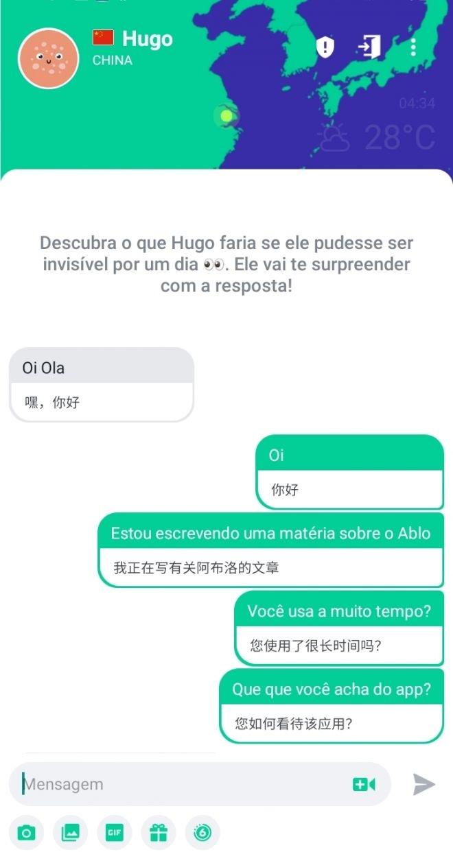 Como usar o Ablo para conversar e conhecer pessoas de outros países - 5