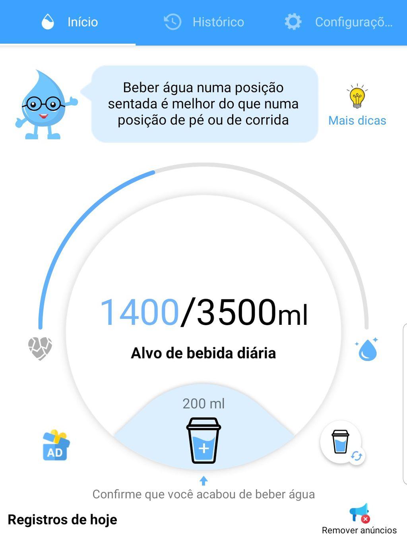 Melhores aplicativos para lembrar de beber água - 4