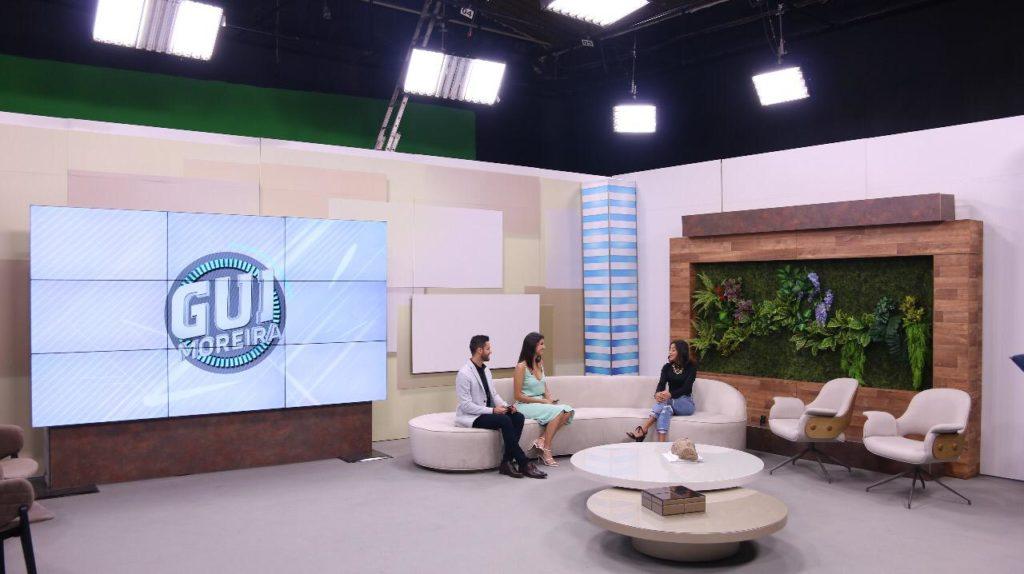 Gui Moreira e Júlia Horta no novo Programa Gui Moreira, da Band Minas