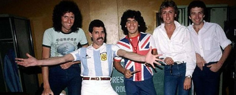 A história secreta do encontro entre Freddie Mercury e astro argentino de futebol - 1