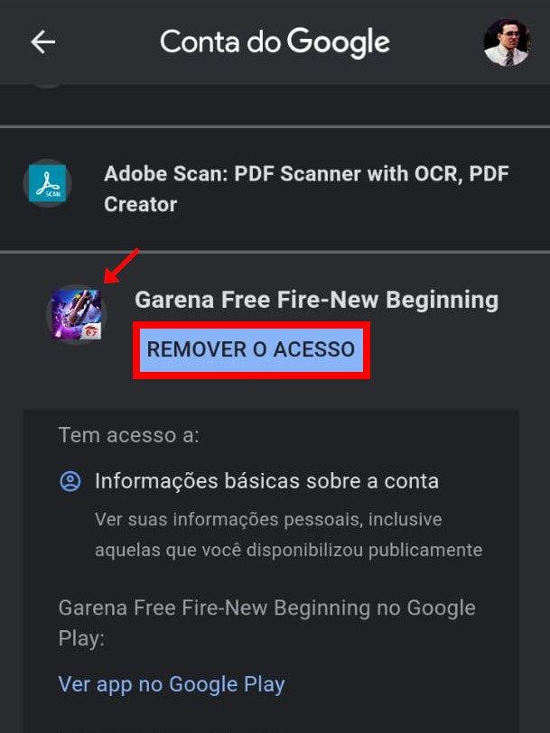 Como excluir sua conta do Free Fire - 11
