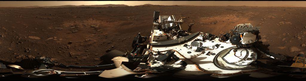Veja a 1ª foto panorâmica em 360º de Marte registrada pelo rover Perseverance - 2