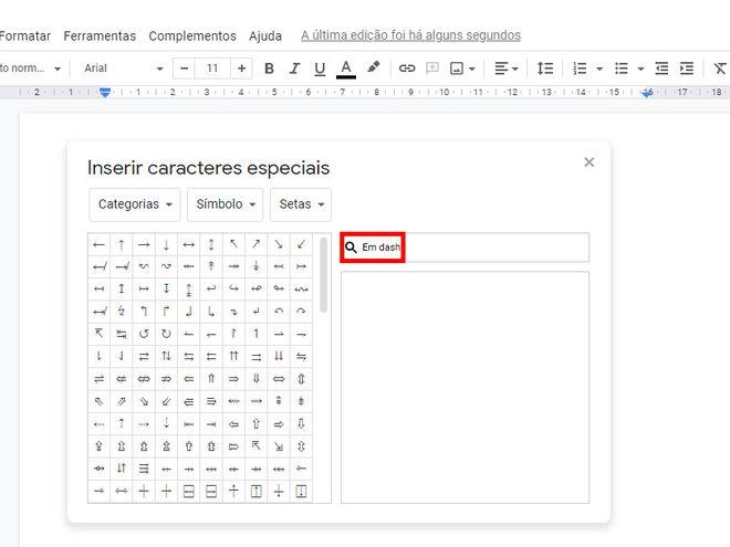 Como colocar travessão em textos do Google Docs - 4