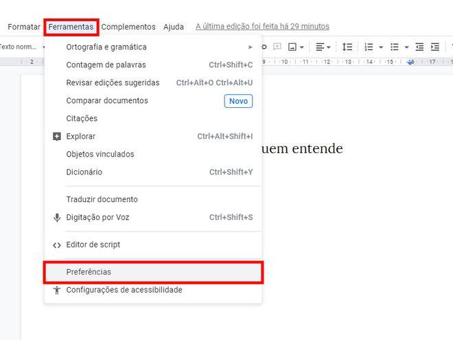 Como colocar travessão em textos do Google Docs - 7