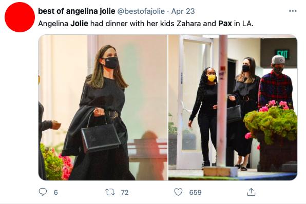 Fãs se assustam com filhos de Angelina Jolie em passeio com a mãe - 1