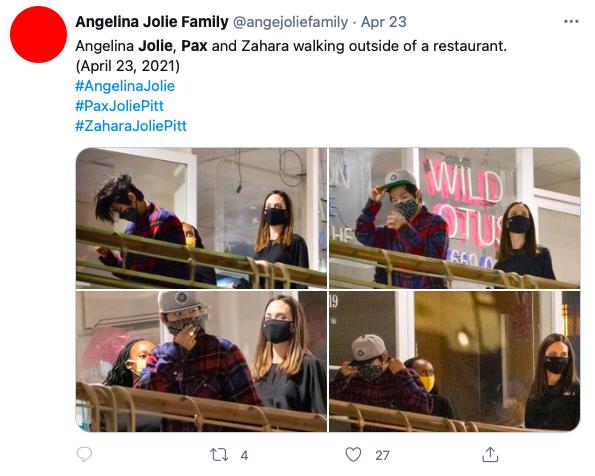 Fãs se assustam com filhos de Angelina Jolie em passeio com a mãe - 2