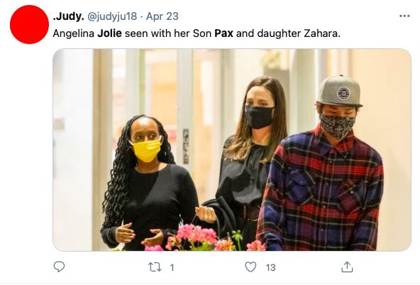 Fãs se assustam com filhos de Angelina Jolie em passeio com a mãe - 3