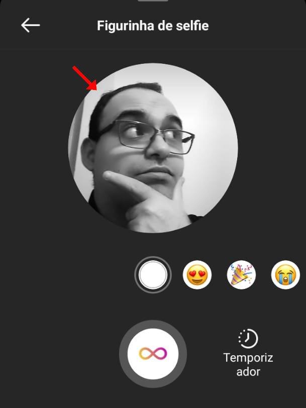 Como enviar uma figurinha de selfie no Direct do Instagram - 6