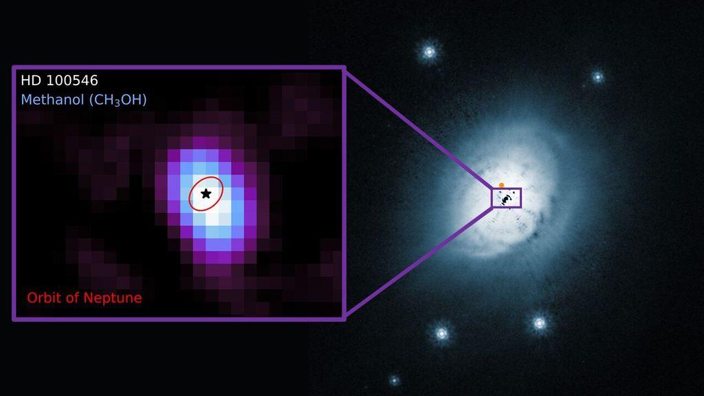 Pela primeira vez, astrônomos encontram metanol em disco protoplanetário quente - 2