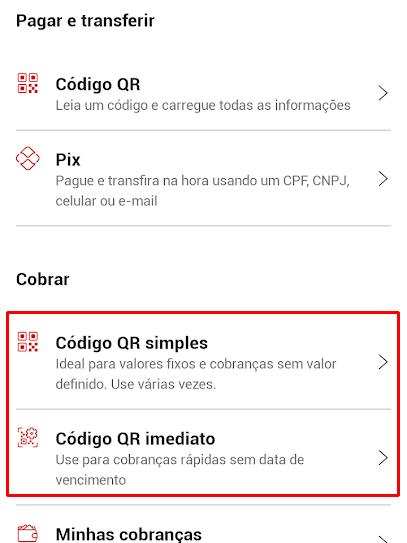 Como criar um QR Code para receber pagamentos via Pix no Santander - 3
