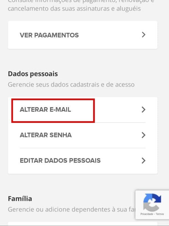 Como mudar o e-mail da GloboPlay - 5