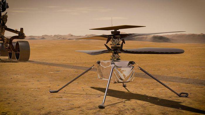 Helicóptero Ingenuity completa seu 7º voo em Marte e pousa em novo local - 1