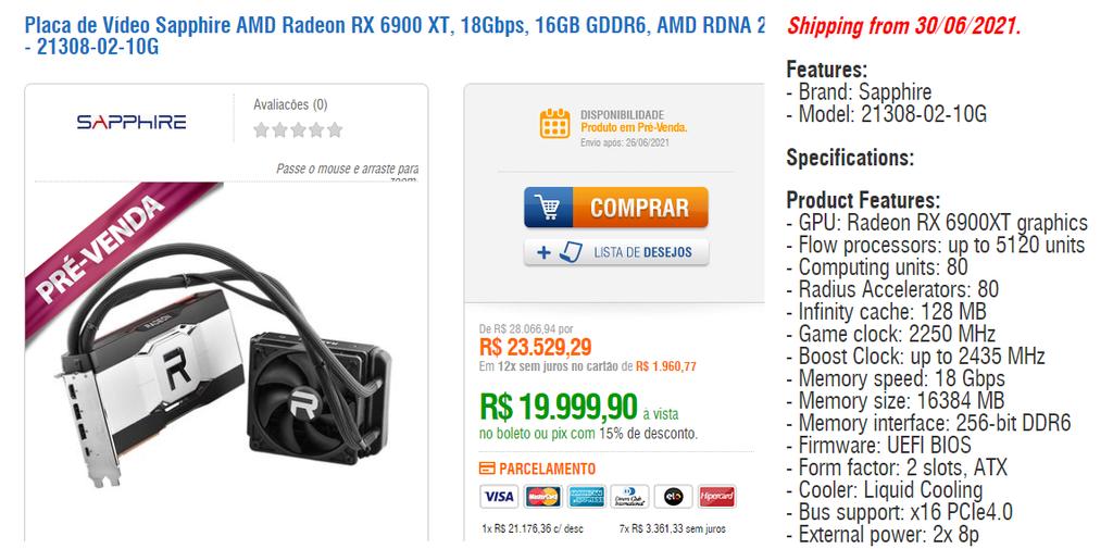 Sapphire pode lançar Radeon RX 6900 XT com resfriamento líquido ainda neste mês - 4