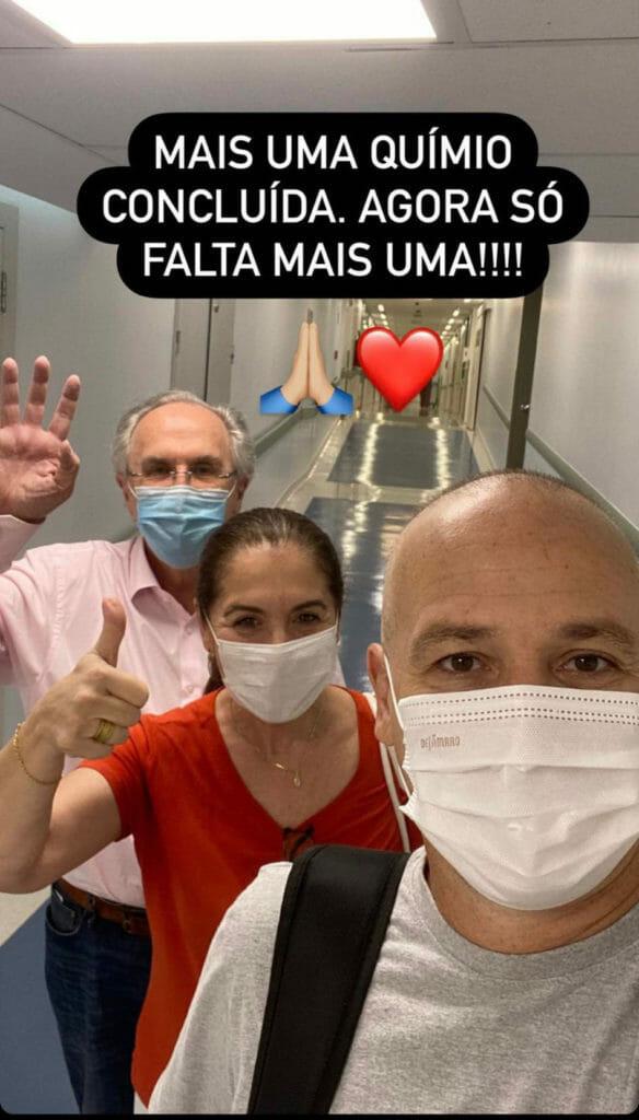 Caio Ribeiro vibra com penúltima sessão de quimioterapia em sua luta contra o câncer - 1