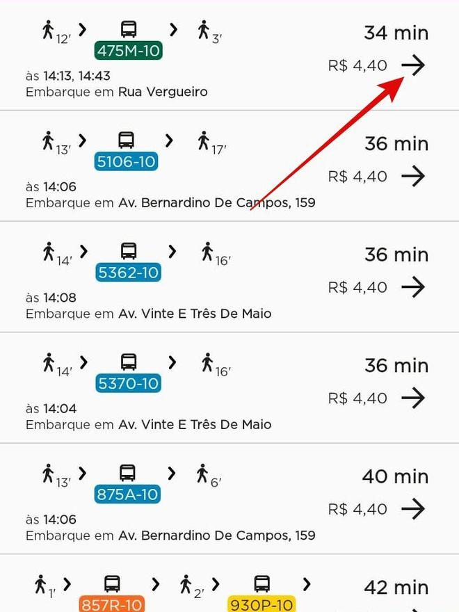 CittaMobi: como usar o app para ver horários de ônibus - 5