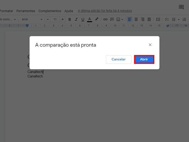 Como comparar dois documentos usando o Google Docs - 7
