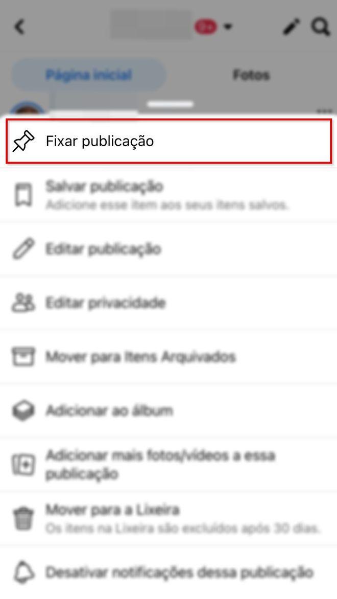 Como fixar uma publicação no seu perfil do Facebook - 5