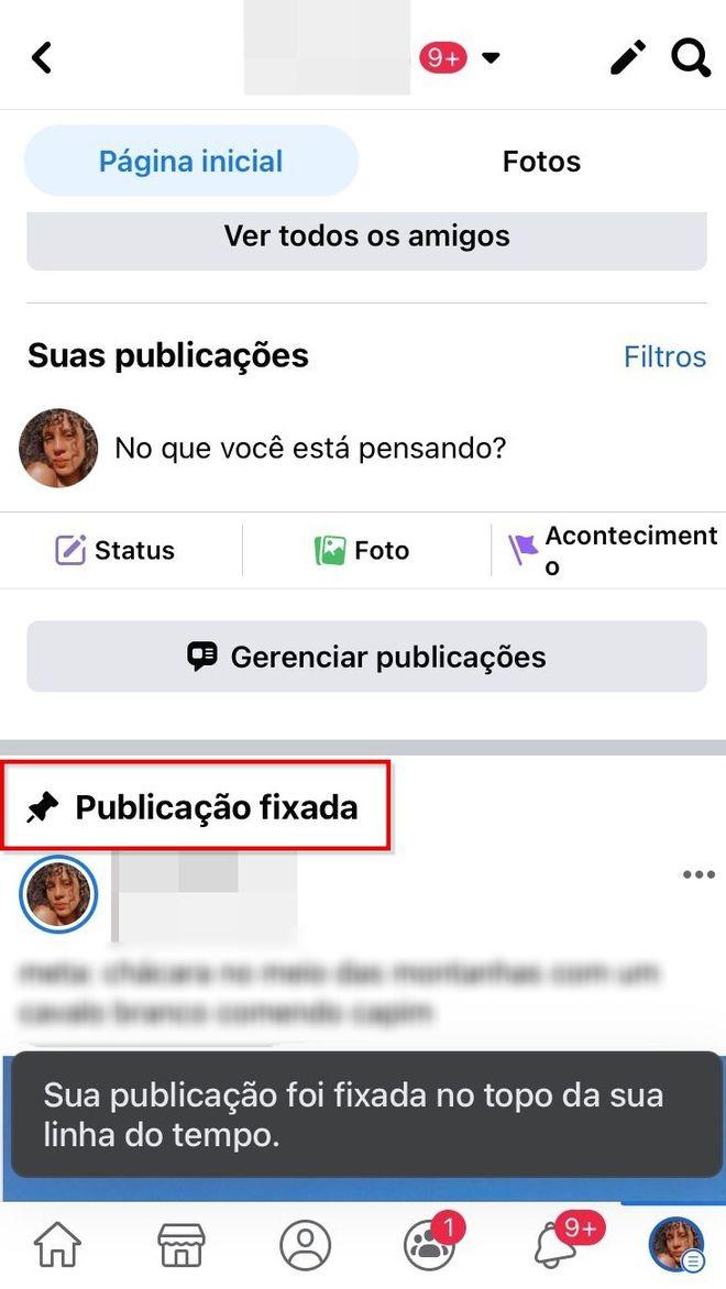 Como fixar uma publicação no seu perfil do Facebook - 6
