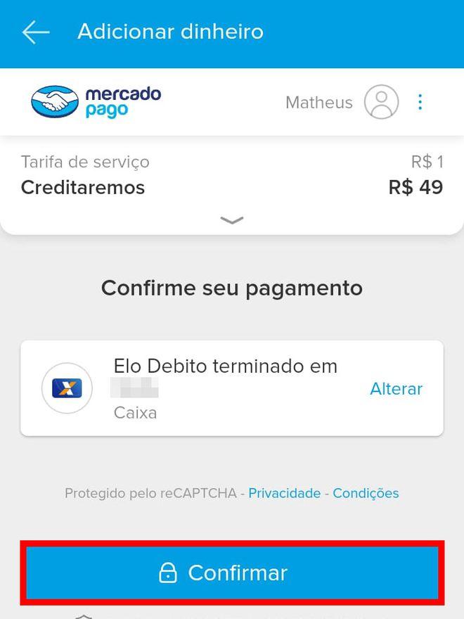 Como transferir dinheiro do Caixa Tem para Mercado Pago pelo celular - 11