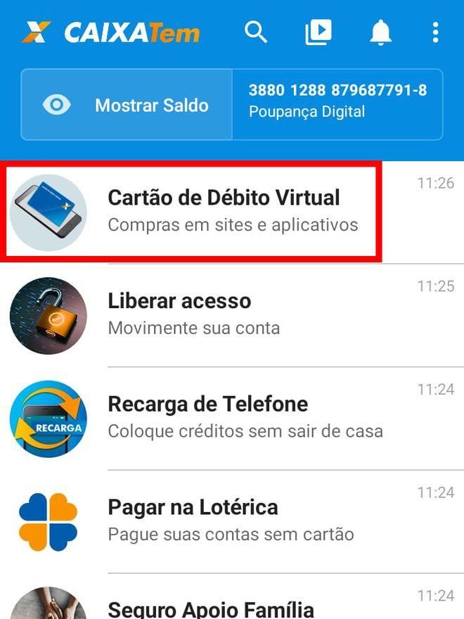 Como transferir dinheiro do Caixa Tem para Mercado Pago pelo celular - 3