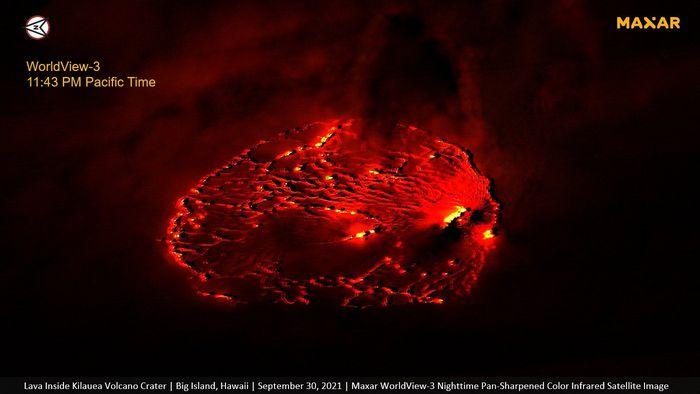 Erupção do vulcão Kilauea é fotografada do espaço; veja imagens - 1