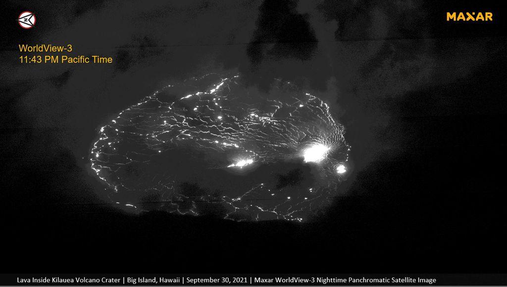 Erupção do vulcão Kilauea é fotografada do espaço; veja imagens - 3